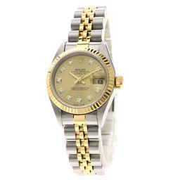 ロレックス 79173G デイトジャスト 10Pダイヤモンド 腕時計 OH済レディース