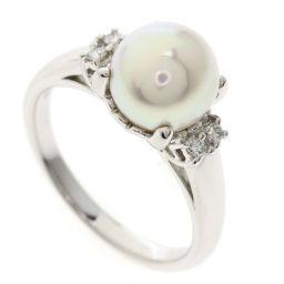 タサキ あこや真珠 パール ダイヤモンド リング・指輪レディース