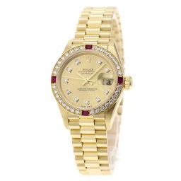 ロレックス 79068G デイトジャスト 10Pダイヤモンド 腕時計レディース