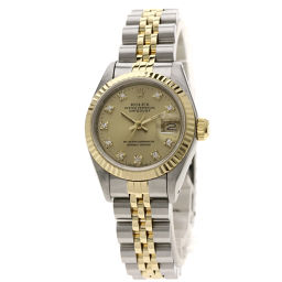 ロレックス 69173G デイトジャスト 10Pダイヤモンド 腕時計 OH済レディース
