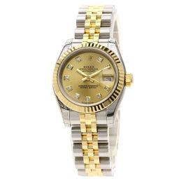ロレックス 179173G デイトジャスト 10Pダイヤモンド 腕時計レディース