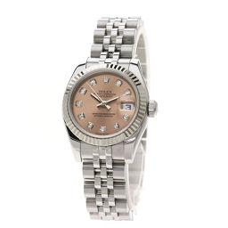 ロレックス 179174G デイトジャスト 10Pダイヤモンド 腕時計レディース