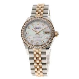ロレックス 279381RBR デイトジャスト 10Pダイヤモンド ベゼルダイヤモンド 腕時計レディース