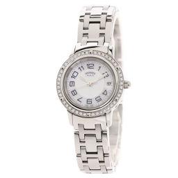 エルメス CP1.230 クリッパー ベゼルダイヤモンド 腕時計レディース