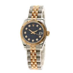 ロレックス 179171G デイトジャスト 10Pダイヤモンド 腕時計レディース