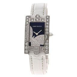 Harry Winston 310LQW Avenue Knight Bezel Diamond Watch Ladies