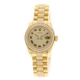 ロレックス 179138 デイトジャスト 全面ダイヤモンド 腕時計レディース