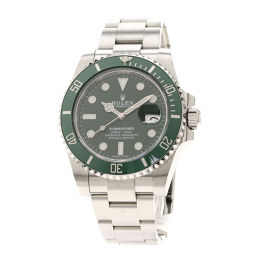 Rolex 116610 LV Submarine Date Green Bezel Watch Mens