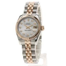 Rolex 179171NG Datejust 10P Diamond Watch Ladies