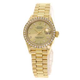 ロレックス 69138G デイトジャスト ベゼルダイヤモンド 腕時計 OH済レディース
