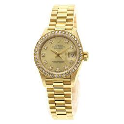 Rolex 69138G Datejust 10P Diamond Watch Ladies