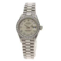 ロレックス 69136G デイトジャスト 10Pダイヤモンド 腕時計 OH済レディース
