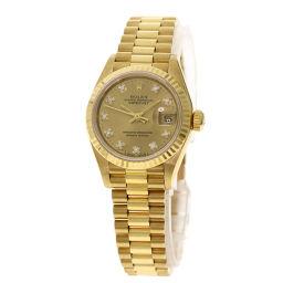 Rolex 69178G Datejust 10P Diamond Watch Ladies