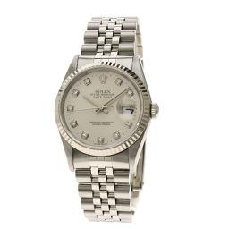 ロレックス 16234G デイトジャスト 10Pダイヤモンド 腕時計 OH済メンズ