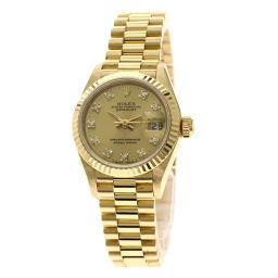 ロレックス 69178G デイトジャスト 10Pダイヤモンド 腕時計 OH済レディース
