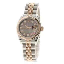 ロレックス 179171NG デイトジャスト 10Pダイヤモンド 腕時計レディース