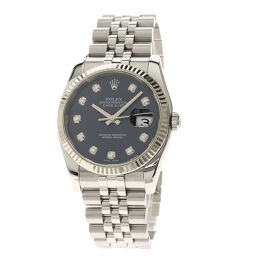 ロレックス 116234G デイトジャスト 10Pダイヤモンド 腕時計メンズ