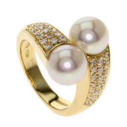 Boucheron Akoya Pearls Pearl Diamond Rings & Rings Womens