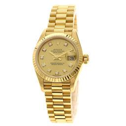 ロレックス 79178G デイトジャスト 10Pダイヤモンド 腕時計レディース