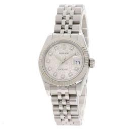 ロレックス 179174G デイトジャスト 10P ダイヤモンド 腕時計 OH済レディース