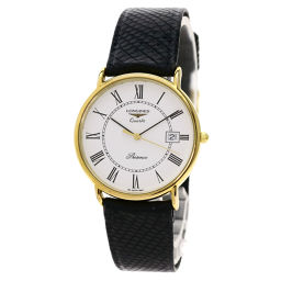Longines round face watches men's