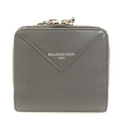 バレンシアガ ロゴモチーフ 二つ折り財布(小銭入れあり)レディース