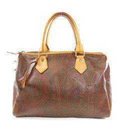 Etoro Paisley Pattern Boston Bags Ladies