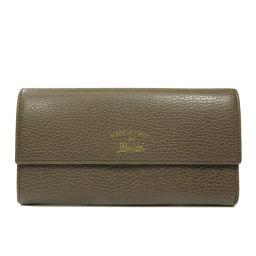 グッチ ロゴモチーフ 長財布(小銭入れあり)レディース