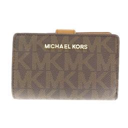 マイケルコース ロゴデザイン 二つ折り財布(小銭入れあり)レディース