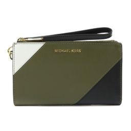 マイケルコース ロゴデザイン ストラップ付き 長財布(小銭入れあり)レディース