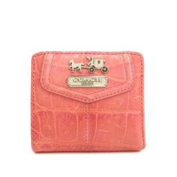 コーチ マディソン 型押し 二つ折り財布(小銭入れあり)レディース