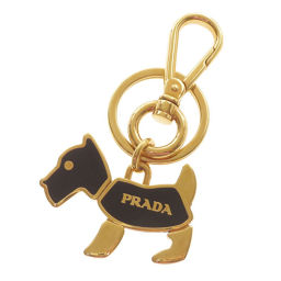 Prada Dog Motif Key Holder Women