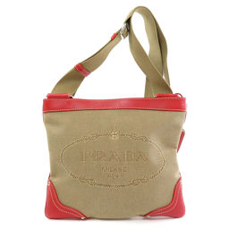 Prada logo design shoulder bag ladies