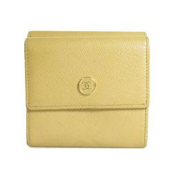 シャネル Wホック ココマーク 二つ折り財布(小銭入れあり)レディース