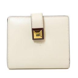 フェンディ 8M0386 スタッズ ロゴタイプ 二つ折り財布(小銭入れあり)レディース