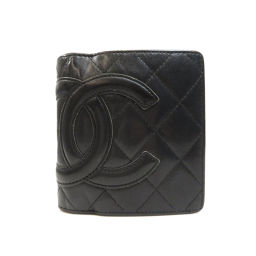 シャネル カンボンライン 二つ折り財布(小銭入れあり)レディース