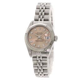 ロレックス 79174G デイトジャスト 10P ダイヤモンド 腕時計レディース