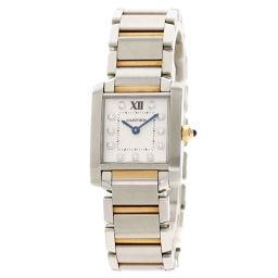 カルティエ WE110004 タンクフランセーズSM 11P ダイヤモンド 腕時計レディース