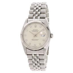 ロレックス 16234G デイトジャスト 10P ダイヤモンド 旧 腕時計メンズ