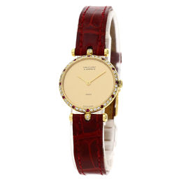 Van Cleef & Arpels Ruby Diamond Round Face Watch Ladies