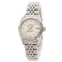 ロレックス 79174G デイトジャスト 10P ダイヤモンド  腕時計 OH済レディース