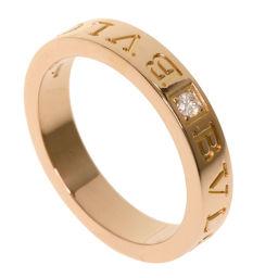 ブルガリ ダブルロゴ ダイヤモンド リング・指輪レディース