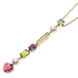 ブルガリ アレグラ パール 真珠 ダイヤモンド マルチストーン ネックレスレディース