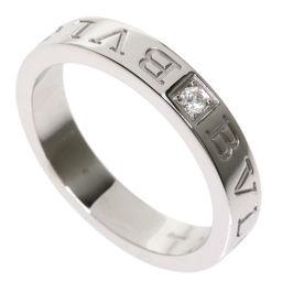 ブルガリ ダブルロゴ 1P ダイヤモンド リング・指輪レディース