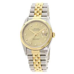 ロレックス 16233G デイトジャスト 10P ダイヤモンド 腕時計メンズ