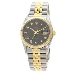 ロレックス 16233 デイトジャスト ローマインデックス 腕時計 OH済メンズ