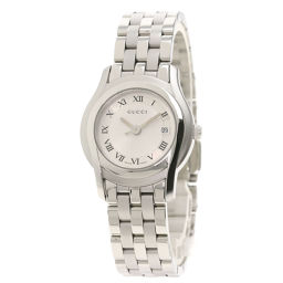 Gucci 5500L round face watch ladies