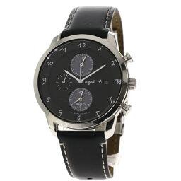 アニエスベー V172-0AZ0 ラウンドフェイス 腕時計メンズ