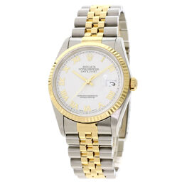 ロレックス 16233 デイトジャスト ローマホワイト 腕時計メンズ