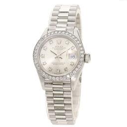ロレックス 69136G デイトジャスト 10P ベゼル ダイヤモンド 腕時計 OH済レディース
